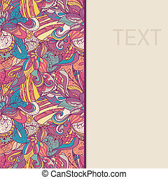 border with abstract hand-drawn pattern