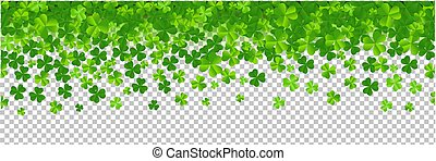Border With Clovers Transparent Background