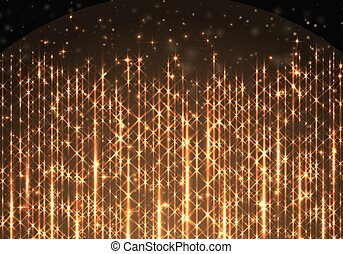 Border with golden rays of light - Background with a golden ...
