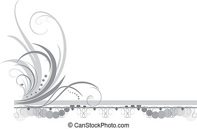 Border with ornament. Title. Vector illustration