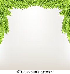 Border xmas frame with fir. Green Christmas winter...