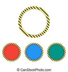 black and yellow stripes border