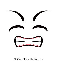 Borderless angry emoticon