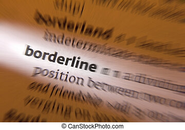 Nice ... Borderline   Dictionary Definition   Borderline   A Division.