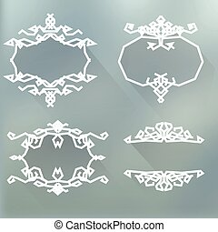 borders and monograms in vintage style