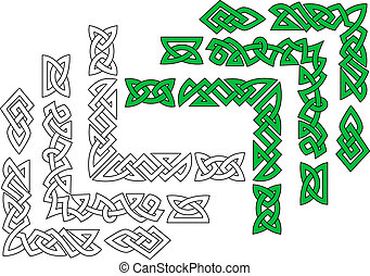 Borders and patterns in celtic style