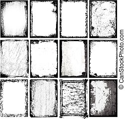Borders & Textures - Set of 12 vector borders and textures. ...