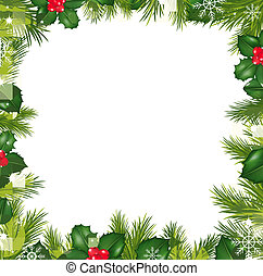 Borders With Snowflakes And Holly Berry