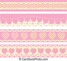 Borders With Victorian Eyelet Heart