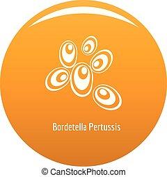 Bordetella pertussis icon vector orange - Bordetella...