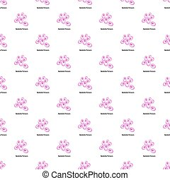 Bordetella pertussis pattern seamless in flat style for any...