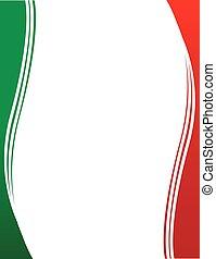 bordo, bandiera, messicano, fondo