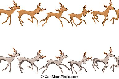 bordo, cervo, seamless, galloping