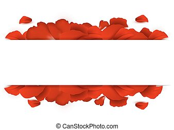 bordo, di, petali rose