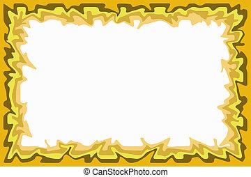 bordo marrone, giallo