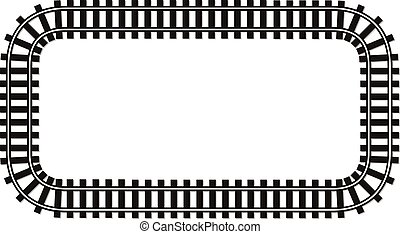 bordo, pista, testo, cima, rotaia, illustrazione, locomotiva, wiev, posto, fondo, ferrovia, bandiera, cornice, trasporto