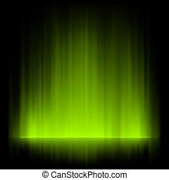 borealis, aurora, fondo., eps, 8