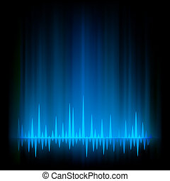 borealis, aurora, light., eps, 8, resumen, brillo