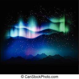 borealis, jutrzenka, abstrakcyjny, tło