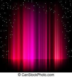 borealis, purpurowy, jutrzenka, eps, tło., 8