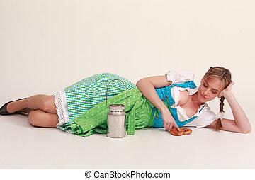 Bored Bavarian girl