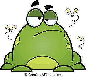 Bored Cartoon Frog