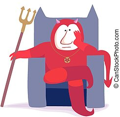 Bored devil - Cartoon image of a distinctly bored looking...