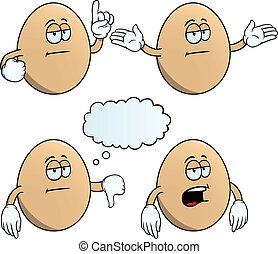 Bored egg set - Collection of bored eggs with various...