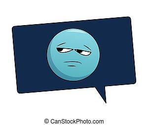 Bored emoticon in bubble