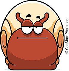 Bored Little Snail - A cartoon illustration of a snail...