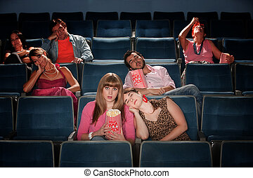 Bored People In Theater