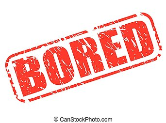 Bored red stamp text
