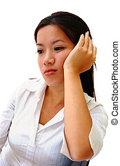 Boredom - A Bored Woman Employee