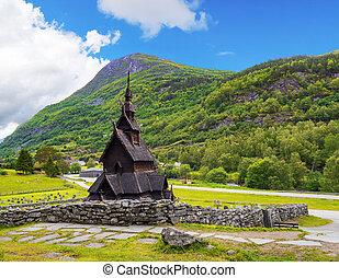 Borgund Stave Church, Norway - Borgund Stave Church - oldest...