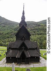 Borgund Stave Church - The Stave Church of Borgund in...