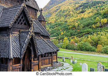 Borgund Stave church. Built in 1180 to 1250, Norway