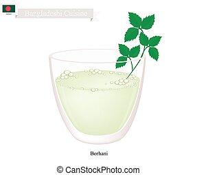 Borhani or Bangladeshi Cpicy Salted Yogurt Drink -...
