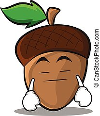 Boring acorn cartoon character style