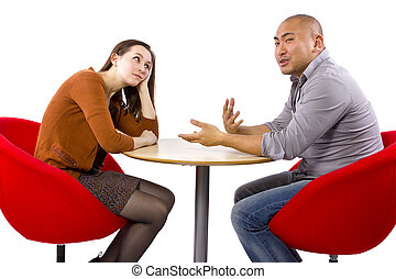 Boring Date - Interracial date that is boring and un-...