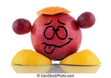 Boring diet. Funny fruit character. - Boring diet. Funny ...