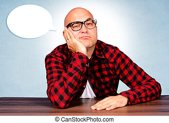 Boring moments - Bald guy have a boring moments