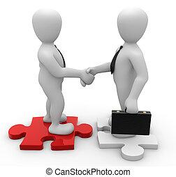 Borko treatment - 3d image handshake