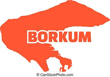 Borkum map with name