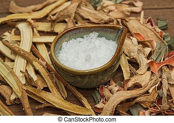borneo, alcanfor, utilizado, para, medicina herbaria