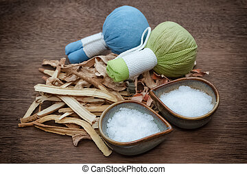 Borneol camphor,liquorice,ginger with lemon grass use for Thai herbal compress ball