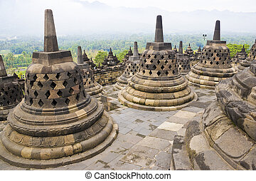borobudur の寺院, インドネシア