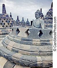 borobudur の寺院