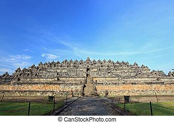Borobudur Indonesia - Borobudur Temple in Yogyakarta, Java,...