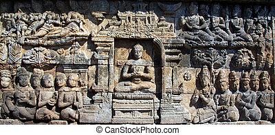 Borobudur Temple Indonesia - Borobudur temple located close...