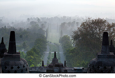 Borobudur Temple Indonesia Sunrise